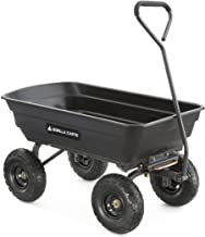 Gorilla Carts GOR4PS Poly Garden Dump Cart with Steel Frame and 10-in. Pneumatic Tires,..