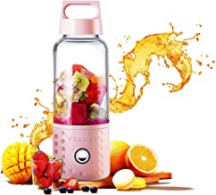 Portable Juice Blenders for Smoothie USB Rechargeable Mini Juicer Machines Extractor Household Fruit Mixer Small Cup 500ml...