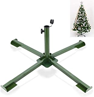 ELFJOY Christmas Tree Stand for Artificial Trees Thick Iron Metal Portable Foldable Tree Base with Thumb Screw 34