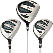 Ram Golf EZ3 Ladies Graphite Wood Set - Driver, 3 & 5 Wood - Headcovers Included
