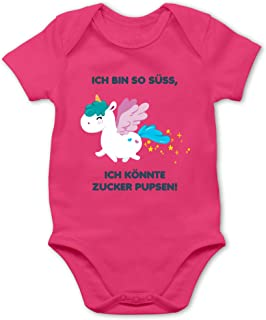 Shirtracer Up to Date Baby - Einhorn - Ich Bin so süß, ich könnte Zucker pupsen! - Baby Body Kurzarm für Jungen und Mädchen