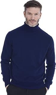 Cashmeren Men's Basic Turtleneck Pullover 100% Pure Cashmere Long Sleeve Roll Neck Sweater