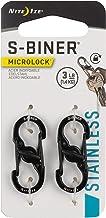 Nite Ize S-Biner MicroLock, Locking Key Holder, Stainless-Steel, Black