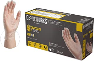 GlovePlus Industrial Clear Vinyl Gloves - 4 mil, Latex Free, Powdered, Disposable, Non-Sterile, Food Safe, Small, IV42100-...