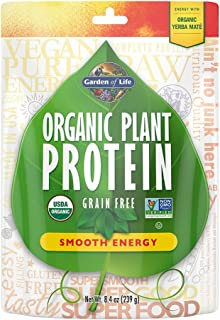 Garden of Life Organic Plant Protein Smooth Energy Powder, 10 Servings - Vegan, Grain Free & Gluten Free Plant Based Prote...