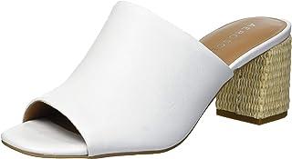 صندل Erie بكعب للنساء من Aerosoles مصنوع من الجلد الأبيض، 12 W
