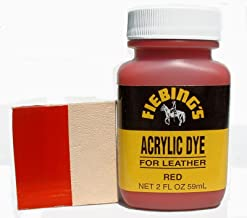 Fiebing's Acrylic Red Leather Paint 2 oz. (59mL)
