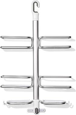 OXO Good Grips Aluminum Hose-Keeper Shower Caddy,Silver,