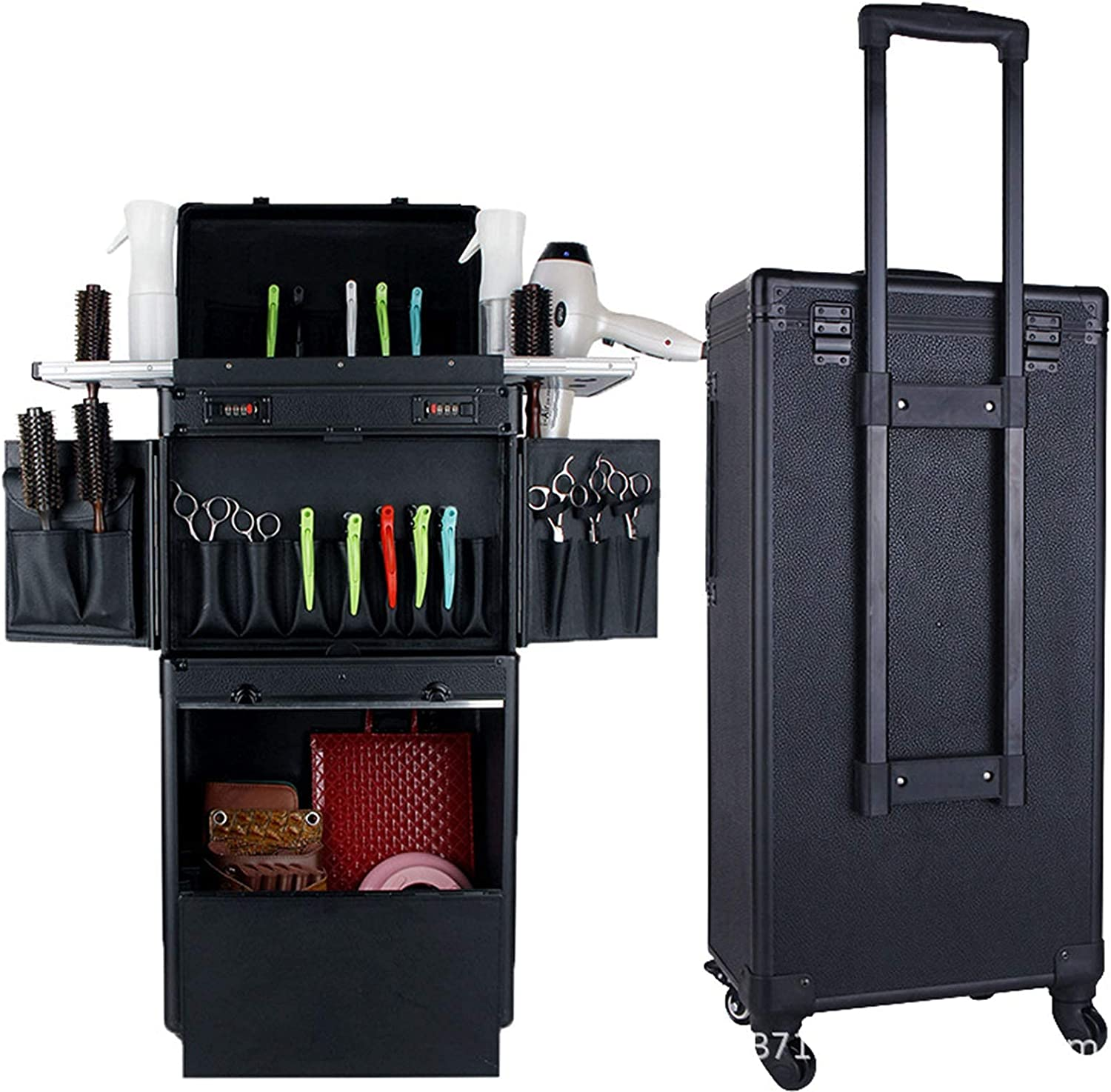 Rolling Makeup Train Case 40% OFF Cheap Sale Cosmetic Storage Max 79% OFF Large Trolley