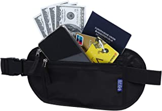 Money Belt,RFID Travel Wallet, Fanny Pack,Hidden Passport Holder for Women Men - Black