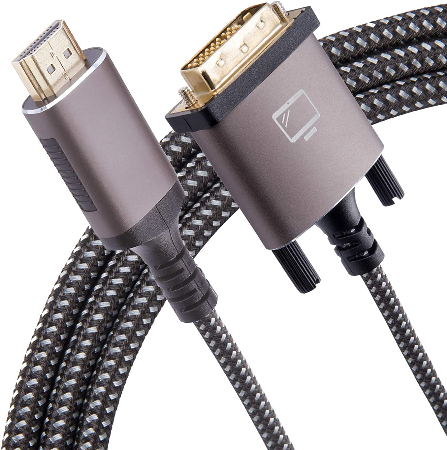 HDMI Free shipping anywhere in the nation to DVI Cable Bi-Directional 1080P Support Braid Nylon Reservation Full