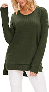 Women's Casual Long Sleeve Shirts Sweaters Tunic Tops for Leggings