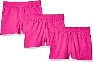 Hanes Little Girls' Jersey Short (Pack of 3)