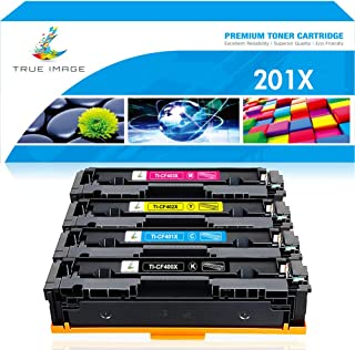 True Image Compatible Toner Cartridge Replacement for HP 201X CF400X 201A CF400A CF401X CF402X CF403X Laserjet MFP M277dw M277c6 M277 M277n Pro M252dw M252n M252 (Black Cyan Yellow Magenta, 4-Pack)