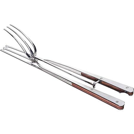 Steakarola Smart_Migliore Pinza per Barbecue in Acciaio Inox e Legno massello zigrinato