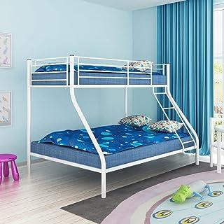 Nishore Cama Litera de Metal para Niños Literas Juveniles 200x140 / 200x90 cm (Blanca)