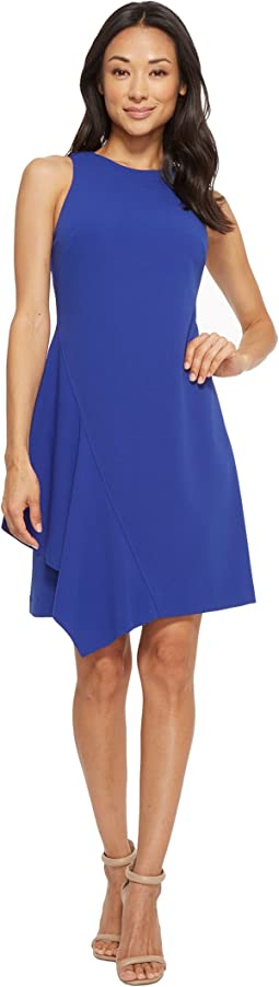 Sleeveless A-Line Dress with Asymmetrical Ruffles