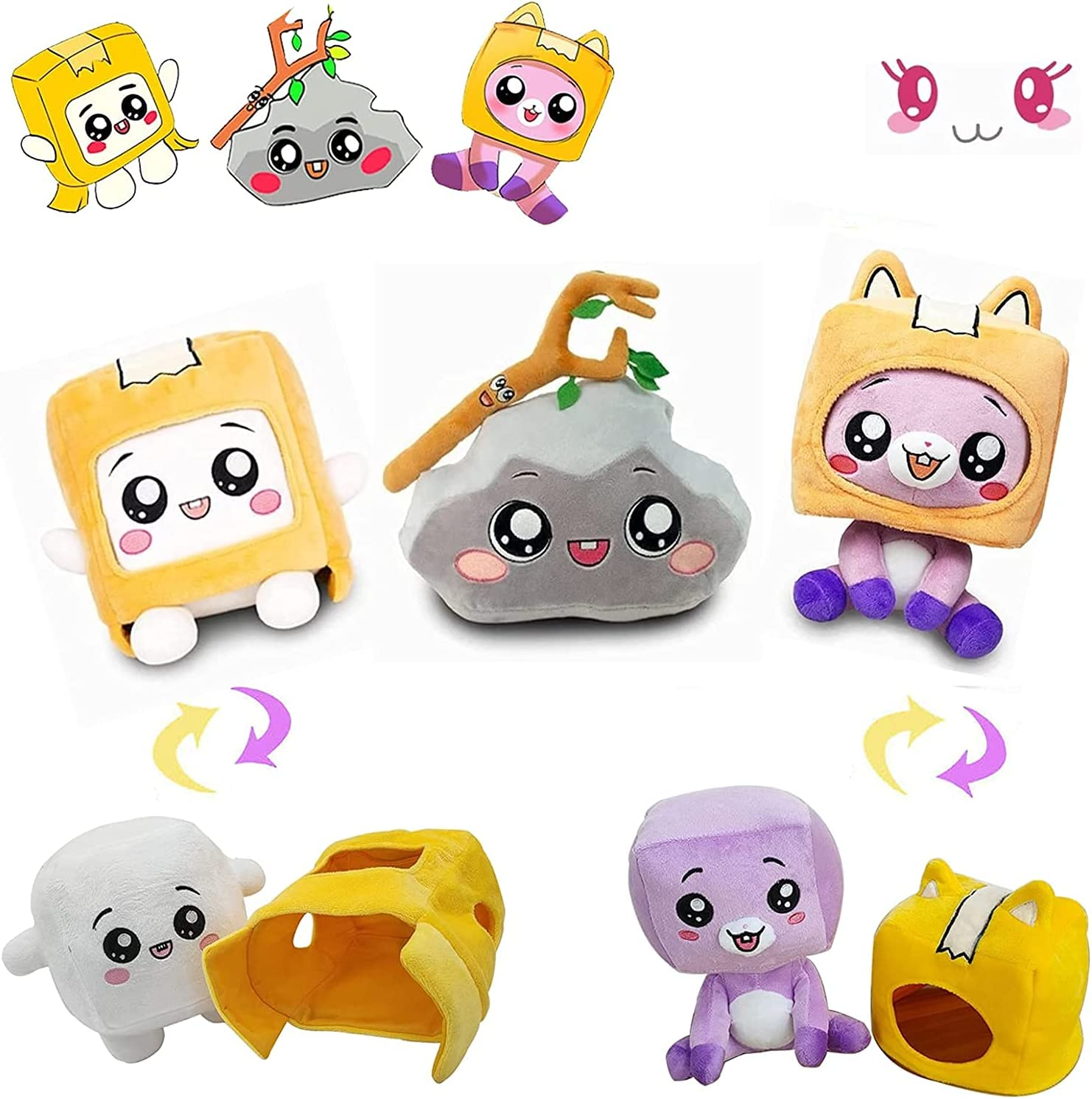 7.9 11.8inch Boxy and Foxy Rocky Plush Cheap bargain Removable Robot Very popular S Toy