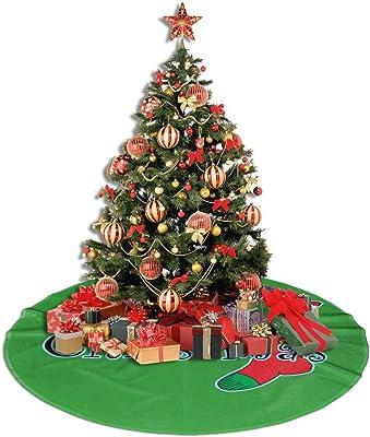 IPOXK Christmas Tree Skirt Horse Herd Desert Sand Storm for Xmas Tree Decorations