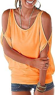 b9ff8c7148d72 Black Summer T Shirt Women Short Sleeve Cold Shoulder Loose Fit Pullover  Casual Top