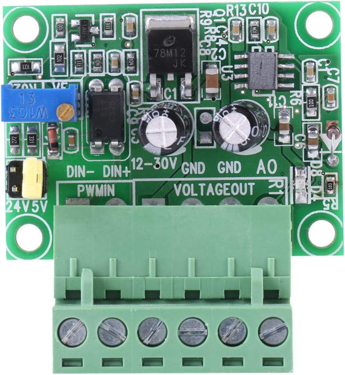 Kuuleyn Frequency to Voltage Converter Module,1-3KHZ 0-10V PWM Signal to Voltage Converter Module Digital Analog Board