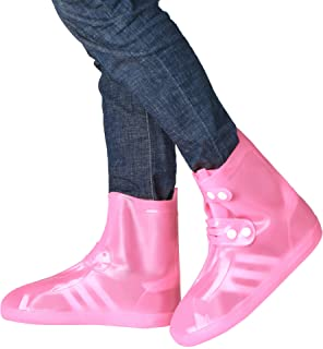 Lumonti Waterproof Shoe Boot Covers,Reusable Slip-Resistant Overshoes Galoshes with Adjustable Belt Buttons