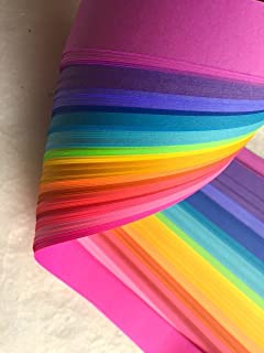 Weaving Paper Strips, 100 Pack, Bright Rainbow Colors (3/4 inch)