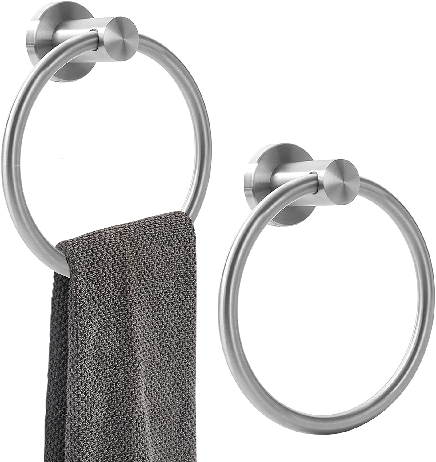 Orlif Towel Ring Brushed Nickel New product! New type Dut for Heavy Bathroom,SUS Max 72% OFF 304