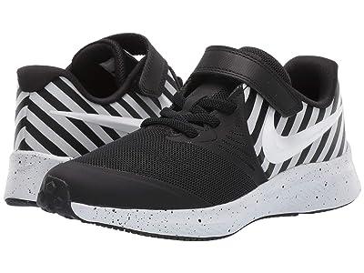 Nike Kids Star Runner 2 Sport (Little Kid) (Black/White/Pure Platinum) Kids Shoes