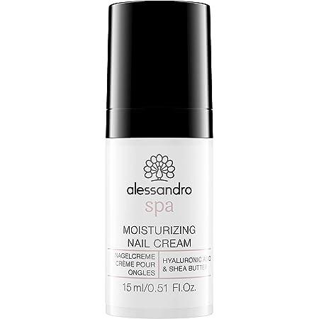 Alessandro Spa - Crema idratante per unghie, con acido ialuronico, per unghie fragili, 15 g