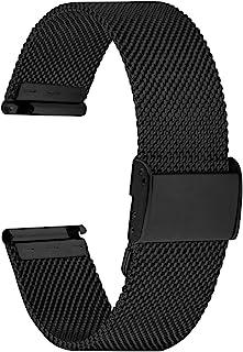 Fullmosa Cinturino per Orologio 20mm, Cinturini in Acciaio Inossidabile di Ricambio Compatibile con Orologi Samsung/Huawei...