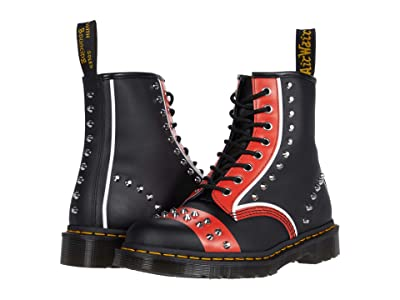 Dr. Martens 1460 Stud (Black/Red/White) Shoes
