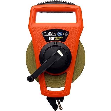 CRESCENT LUFKIN PS1808DN Tape Measure,1//2 Inx200 ft,Orange//Black