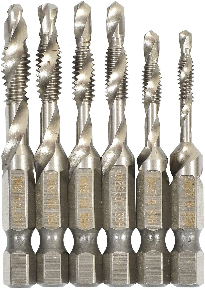 Beauty products 6Pcs Set Hex Free Shipping Cheap Bargain Gift Shank Drill Bits 4341 Combination and HSS Tap