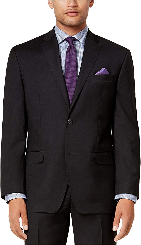 Sean John Mens Classic Two Reservation Button 48 Black Jacket Super special price Blazer Regul