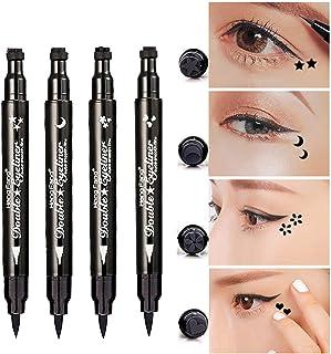 Pinkiou Eyeliner Pencil Pen with Eye Makeup Stamp Waterproof Double Sided Long Lasting Seal Eyeliner (4in1)