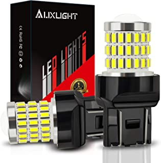 AUXLIGHT 7440 7441 7443 7444 T20 992 W21W LED Bulbs Xenon White, Ultra Bright 57-SMD LED Replacement for Back Up/Reverse L...