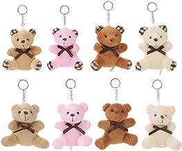 Key Fob Bear Mini Pet Toy with Keyring handy kawaii style funny animal charm cinnamon Teddy Bear cute gift keyring fob pocket animal