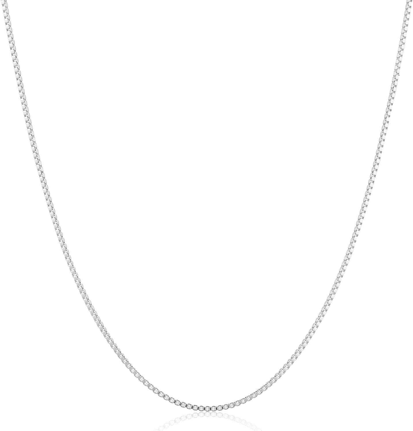 Sterling Silver Thin Max trend rank 69% OFF 0.6mm Necklace Chain Box