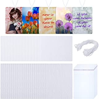 50 Pieces Air Freshener Sheets Sublimation Air Fresheners DIY Air Fresheners Scented Sheets Blank Car Air Freshener Sheets...