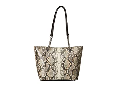 Calvin Klein Hayden Python Chainlink Tote (Grey Snake) Tote Handbags