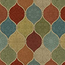Spice Mosaic Cotton Fabric by The Yard