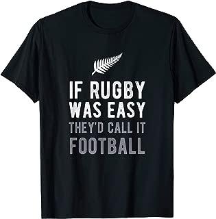 Funny New Zealand Rugby NZ Silver Fern Football T-Shirt