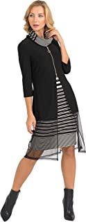 Joseph Ribkoff Womens Layered Zip Dress Style 193866