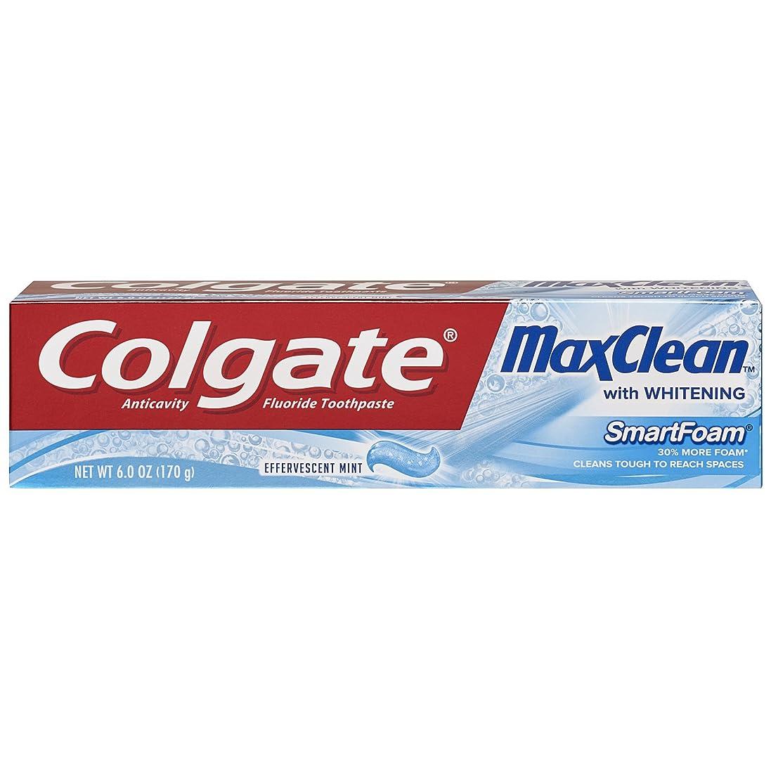 特徴排他的わずかなColgate ホワイトニング歯磨き、発泡ミント6オンスMaxclean SMARTFOAM(2パック)