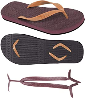 Boomerangz Regular Fit Flip Flops (Men's) Colour: Burgundy/Black + Interchangeable Straps (Additional) [Combo Offer]