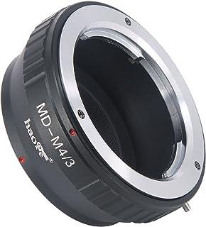 Haoge手動レンズマウントアダプタfor Rokkor MD MCマウントレンズをOlympusとPanasonicマイクロフォーサーズMFT m4/ 3m43マウントカメラ