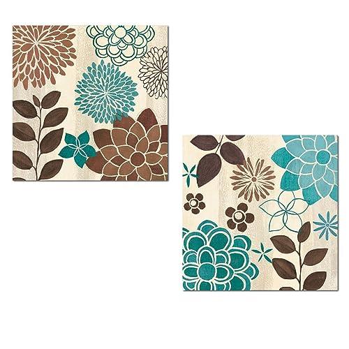 Brown And Turquoise Decor Amazon Com