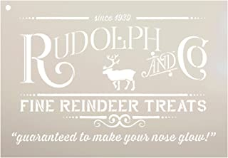 Rudolph and Co. Stencil by StudioR12 | Reindeer Treats Christmas Word Art - Reusable Mylar Template | Painting, Chalk | Use for Crafting DIY Christmas Signs for Holiday Décor (13