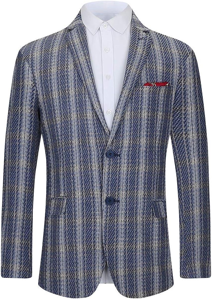 Piero Lusso Boys' Fashion Modern Fit Sport Blazers Casual Jackets